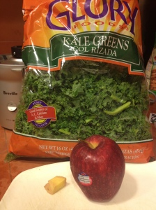 Kale, apple and ginger